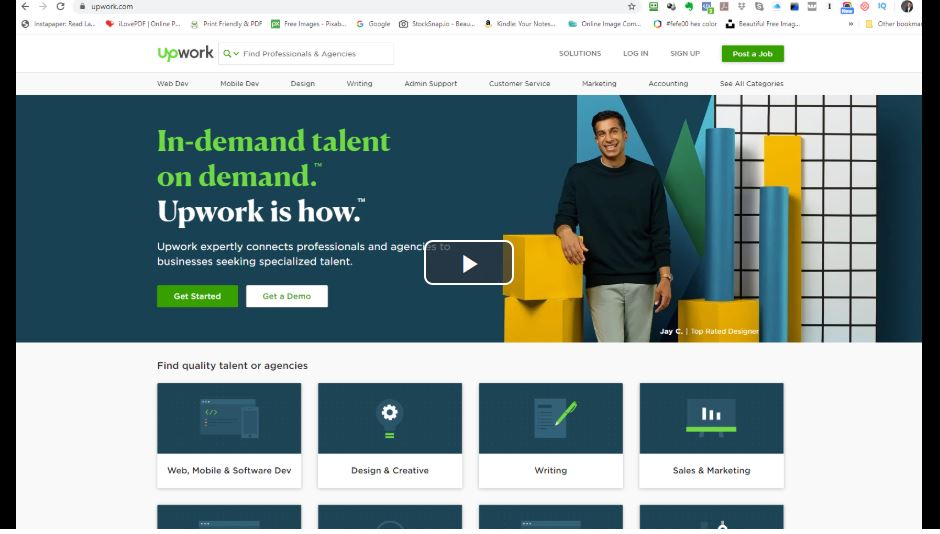 outsource using Upwork and Fiverr